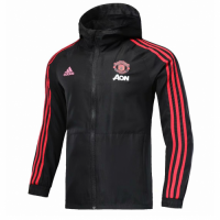 18-19 Manchester United Black Woven Windrunner picture and image