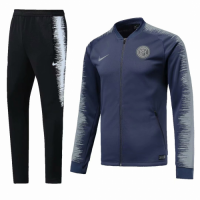 18-19 Inter Milan Gray&Black V-Neck Training Kit(Jacket+Trouser) picture and image