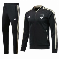 18-19 Juventus Black V-Neck Training Kit(Jacket+Trouser) picture and image