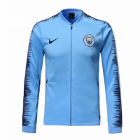 18-19 Manchester City Blue V-Neck Training Jacket picture and image