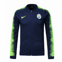 18-19 Manchester City Navy&Green V-Neck Training Jacket picture and image
