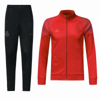 18-19 Real Madrid Red&Black High Neck Collar Training Kit(Jacket+Trouser) picture and image