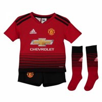 18-19 Manchester United Home Children's Jersey Whole Kit(Shirt+Short+Socks) picture and image