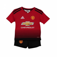 18-19 Manchester United Home Children's Jersey Kit(Shirt+Short) picture and image