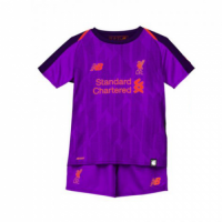 18-19 Liverpool Away Purple Children's Jersey Kit(Shirt+Short) picture and image