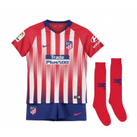 18-19 Atletico Madrid Home Children's Jersey Whole Kit(Shirt+Short+Socks) picture and image
