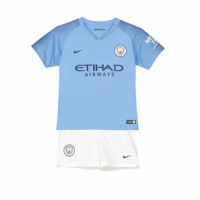 18-19 Manchester City Home Children's Jersey Kit(Shirt+Short) picture and image