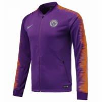 18-19 Manchester City Purple&Orange V-Neck Training Jacket picture and image