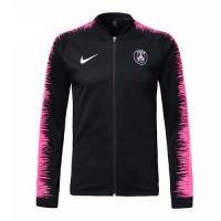 18-19 PSG Black&Pink V-Neck Track Jacket picture and image