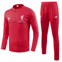 18-19 Liverpool Red Training Kit( Zipper Sweat Top Shirt+Trouser) picture and image