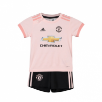 18-19 Manchester United Away Pink Children's Jersey Kit(Shirt+Short) picture and image
