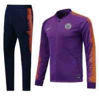 18-19 Manchester City Purple&Navy Training Kit(Jacket+Trousers) picture and image