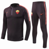 18-19 Roma Black Training Kit(Zipper Sweat Top Shirt+Trousers) picture and image