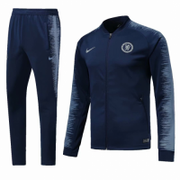 18-19 Chelsea Navy&Gray V-Neck Training Kit(Jacket+Trousers) picture and image