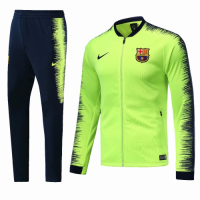 18-19 Barcelona Green&Navy V-Neck Training Kit(Jacket+Trouser) picture and image