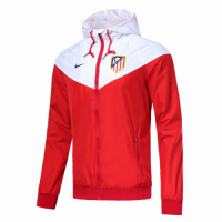 18-19 Atletico Madrid Red&White Woven Windrunner picture and image