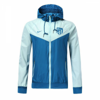18-19 Atletico Madrid Blue&Gray Woven Windrunner picture and image