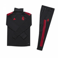 Kids 18-19 Real Madrid Black Turtleneck Sweat Shirt Kit(Top+Trouser) picture and image
