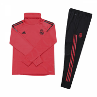 Kids 18-19 Real Madrid Red Turtleneck Sweat Shirt Kit(Top+Trouser) picture and image