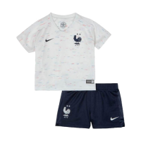 2018 World Cup France Away Shirt Two Stars Children's Jersey Kit(Shirt+Short) picture and image