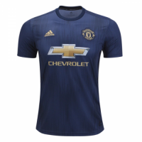18-19 Manchester United Third Away Navy Jersey Shirt(Player Version) picture and image
