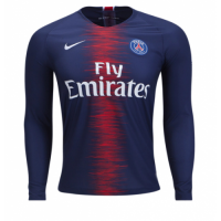 18-19 PSG Home Long Sleeve Soccer Jersey Shirt picture and image