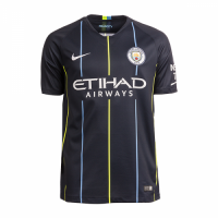 18-19 Manchester City Away Navy Soccer Jersey Shirt picture and image