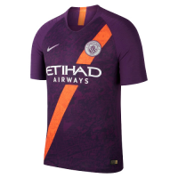 18-19 Manchester City Third Away Purple Soccer Jersey Shirt picture and image