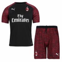 18-19 AC Milan Third Away Black Soccer Jersey Kit(Shirt+Short) picture and image