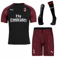 18-19 AC Milan Third Away Black Soccer Jersey Shirt picture and image