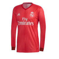 18-19 Real Madrid Third Away Red Long Sleeve Jersey Shirt picture and image