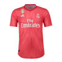 18-19 Real Madrid Third Away Red Soccer Jersey Shirt(Player Version) picture and image