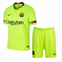 18-19 Barcelona Away Green Soccer Jersey Kit(Shirt+Short) picture and image