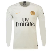 18-19 PSG Away White Long Sleeve Soccer Jersey Shirt picture and image