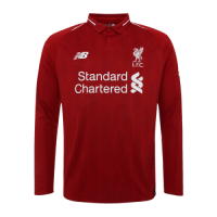 18-19 Liverpool Home Long Sleeve Jersey Shirt picture and image