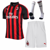 18-19 AC Milan Home Soccer Jersey Kit(Shirt+Short+Sock) picture and image