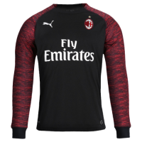 18-19 AC Milan Third Away Red&Black Long Sleeve Jersey Shirt picture and image