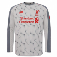 18-19 Liverpool Third Away Light Grey White Long Sleeve Jersey Shirt picture and image