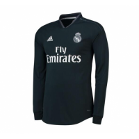 18-19 Real Madrid Away Dark Navy Long Sleeve Jersey Shirt picture and image
