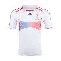 2006 France Away White Retro Soccer Jerseys Shirt picture and image