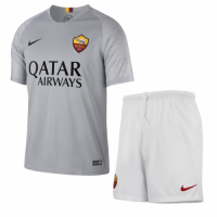18-19 Roma Away Gray  Soccer Jersey Kit(Shirt+Short) picture and image