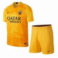 18-19 Roma Third Away Yellow Soccer Jersey Kit(Shirt+Short) picture and image