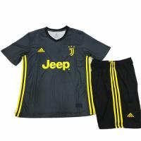 18-19 Juventus Third Away Black Children's Jersey Kit(Shirt+Short) picture and image