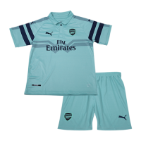 18-19 Arsenal Third Away Green Children's Jersey Kit(Shirt+Short) picture and image