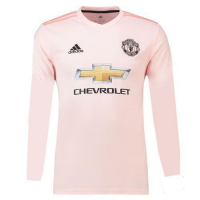 18-19 Manchester United Away Pink Long Sleeve Jersey Shir picture and image