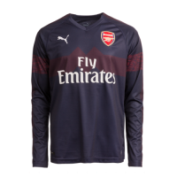 18-19 Arsenal Away Long Sleeve Navy Soccer Jersey Shirt picture and image