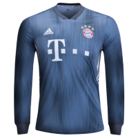 18-19 Bayern Munich Third Away Navy Long Sleeve Jersey Shirt picture and image
