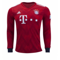 18-19 Bayern Munich Home Long Sleeve Jersey Shirt picture and image