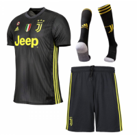 18-19 Juventus Third Away Black Soccer Jersey Whole Kit(Shirt+Short+Socks) picture and image
