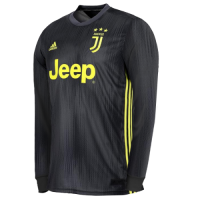 18-19 Juventus Third Away Black Long Sleeve Soccer Jersey Shirt picture and image
